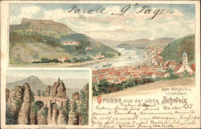 Koenigstein Saechsische Schweiz Koenigstein Saechsische Schweiz Basteibruecke x / Koenigstein Saechsische Schweiz /Saechsische Schweiz-Osterzgebirge LKR