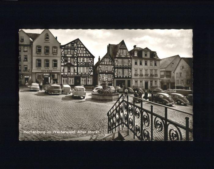 Hachenburg Westerwald Hachenburg Markt x / Hachenburg /Westerwaldkreis LKR