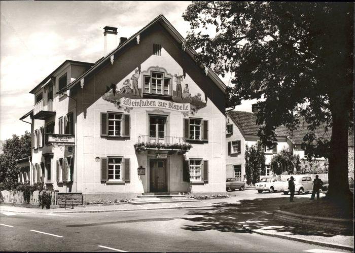 Kressbronn Bodensee Kressbronn Weinstuben zur Kapelle * / Kressbronn am Bodensee /Bodenseekreis LKR