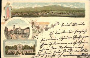 Weilheim Oberbayern Weilheim Oberbayern Marktplatz Bad x / Weilheim i.OB /Weilheim-Schongau LKR