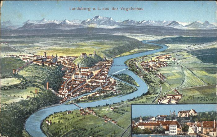 Landsberg Lech Landsberg Lech Gefangenen Anstalt x / Landsberg am Lech /Landsberg Lech LKR
