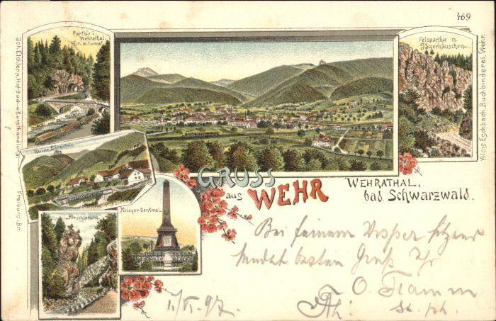 Wehr Baden Wehr Baden  x / Wehr /Waldshut LKR