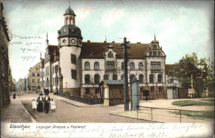 Glauchau Glauchau Leipziger Strasse Post x / Glauchau /Zwickau LKR