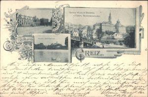 Greiz Thueringen Greiz Post Schule Schloss x / Greiz /Greiz LKR