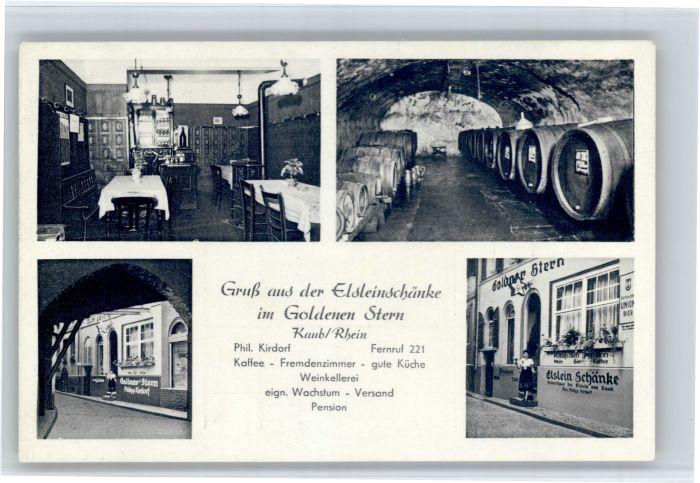 Kaub Kaub Elsleinschaenke Goldner Stern * / Kaub /Rhein-Lahn-Kreis LKR