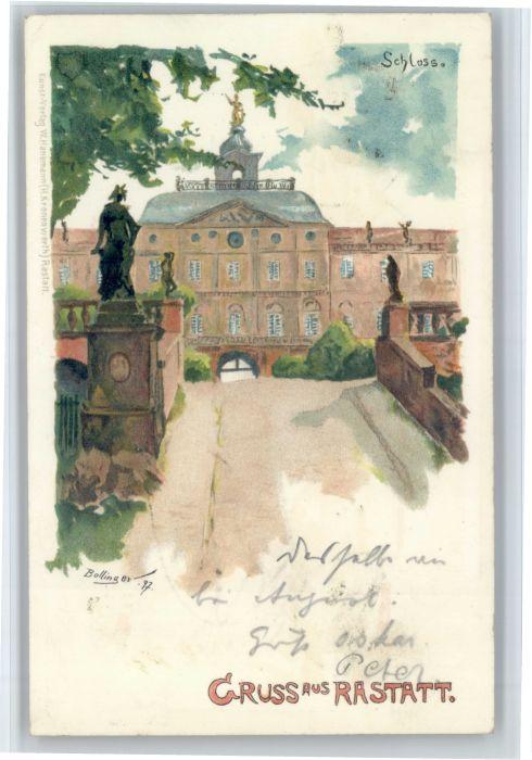 Rastatt Rastatt Schloss Kuenstler Bollinger x / Rastatt /Rastatt LKR