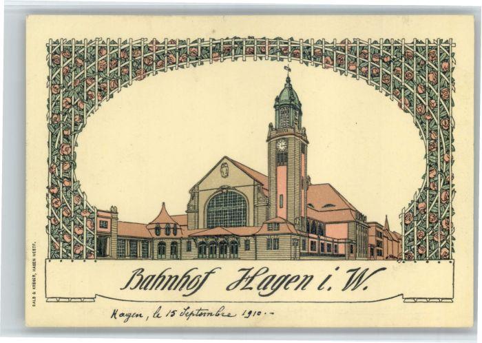 Hagen Westfalen Hagen Westfalen Bahnhof * / Hagen /Hagen Stadtkreis