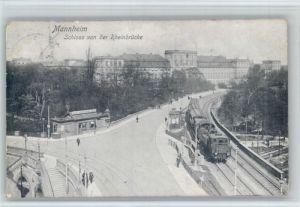 Mannheim Mannheim Schloss Rheinbruecke x / Mannheim /Mannheim Stadtkreis