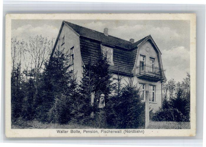 Gransee Gransee [Handschriftlich Pension Fischerwall * / Gransee /Oberhavel LKR