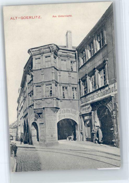 Goerlitz Sachsen Goerlitz Untermarkt * / Goerlitz /Goerlitz LKR