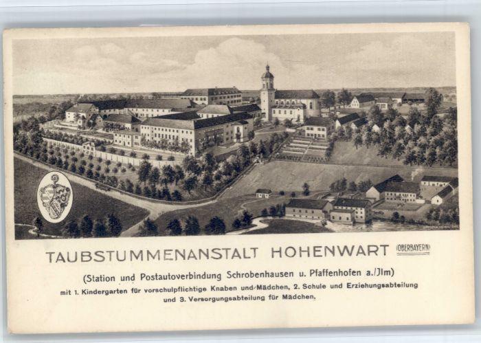 Hohenwart Paar Hohenwart Taubstummenanstalt x / Hohenwart /Pfaffenhofen LKR