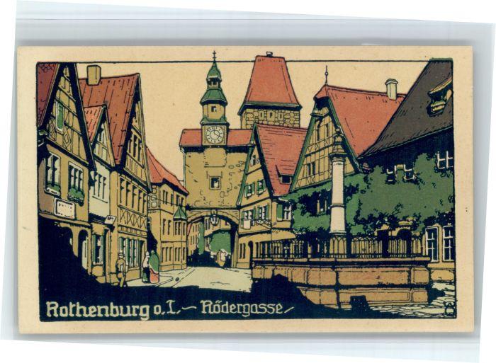 Rothenburg Tauber Rothenburg Tauber Roedergasse * / Rothenburg ob der Tauber /Ansbach LKR