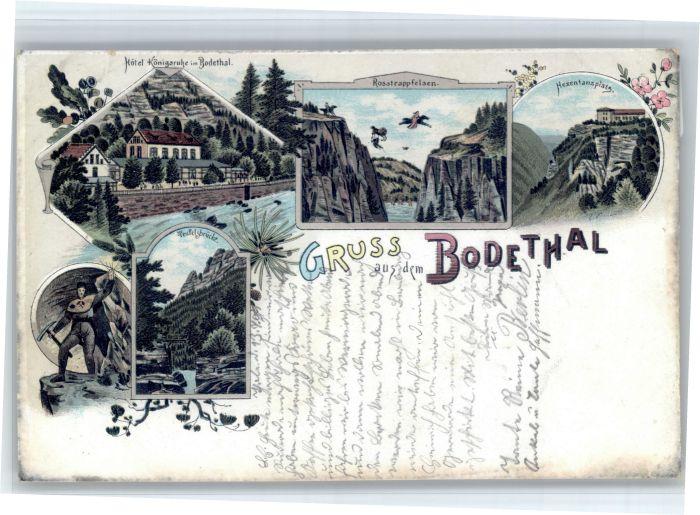 Thale Harz Thale [Stempelabschlag] Bodethal  x / Thale /Harz LKR