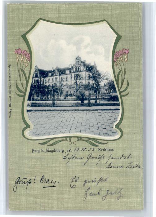 Burg Magdeburg Burg Magdeburg Kreishaus x / Burg /Jerichower Land LKR