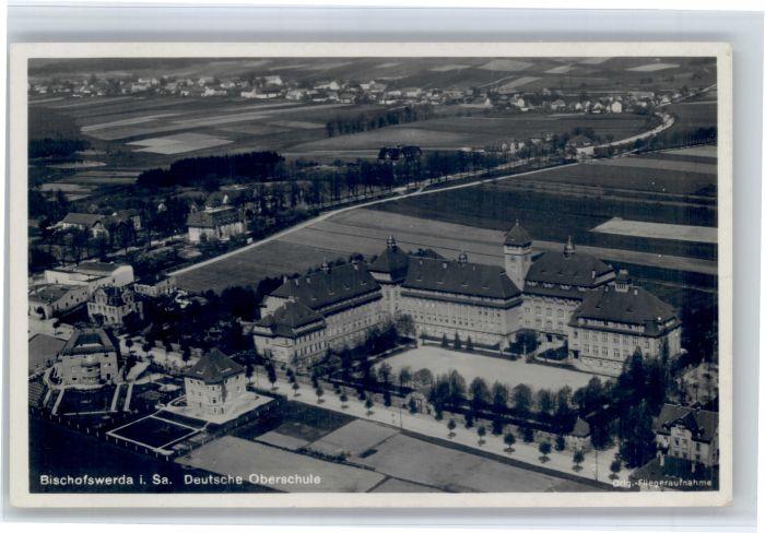 Bischofswerda Bischofswerda Fliegeraufnahme Schule x / Bischofswerda /Bautzen LKR