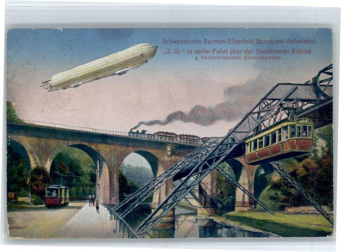 Elberfeld Wuppertal Elberfeld Barmen Sonnborn Vohwinkel Schwebebahn Zeppelin x / Wuppertal /Wuppertal Stadtkreis