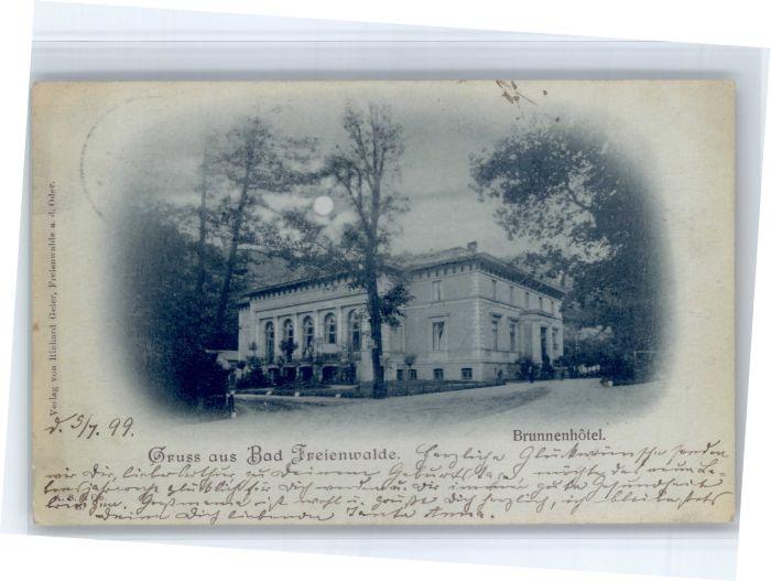 Bad Freienwalde Bad Freienwalde Brunnenhotel x / Bad Freienwalde /Maerkisch-Oderland LKR