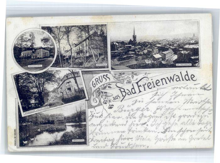 Bad Freienwalde Bad Freienwalde  x / Bad Freienwalde /Maerkisch-Oderland LKR