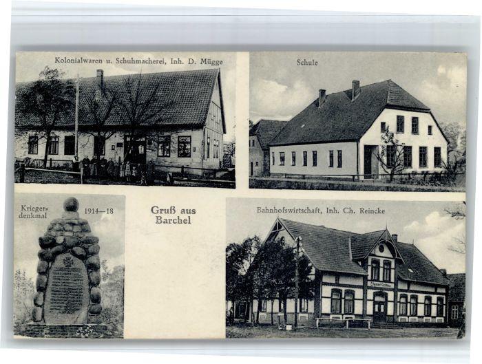 Barchel Barchel Schule Krieger Denkmal Bahnhofswirtschaft x / Oerel /Rotenburg LKR