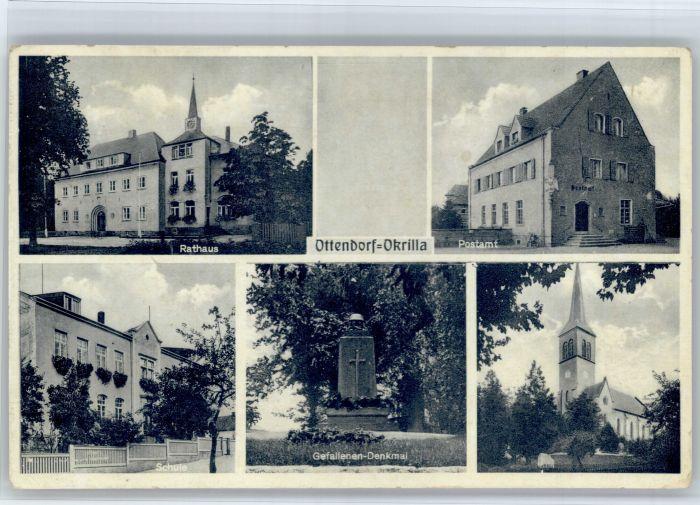 Ottendorf-Okrilla Ottendorf-Okrilla  Rathaus Postamt Schule Gefallenen Denkmal  x / Ottendorf-Okrilla /Bautzen LKR