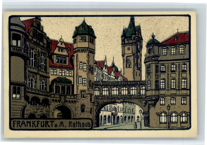 Frankfurt Main Frankfurt Main Rathaus * / Frankfurt am Main /Frankfurt Main Stadtkreis