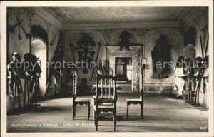 Burg Hochosterwitz Schloss Hochosterwitz Dritter Waffensaal / St. Georgen am Laengsee /Unterkaernten