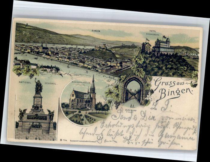 Bingen Rhein Bingen National Denkmal Rochus Kapelle Hotel Rochusberg x / Bingen am Rhein /Mainz-Bingen LKR