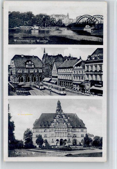 Minden Westfalen Minden Westfalen Weserbruecke Wesertor Marktplatz x / Minden /Minden-Luebbecke LKR