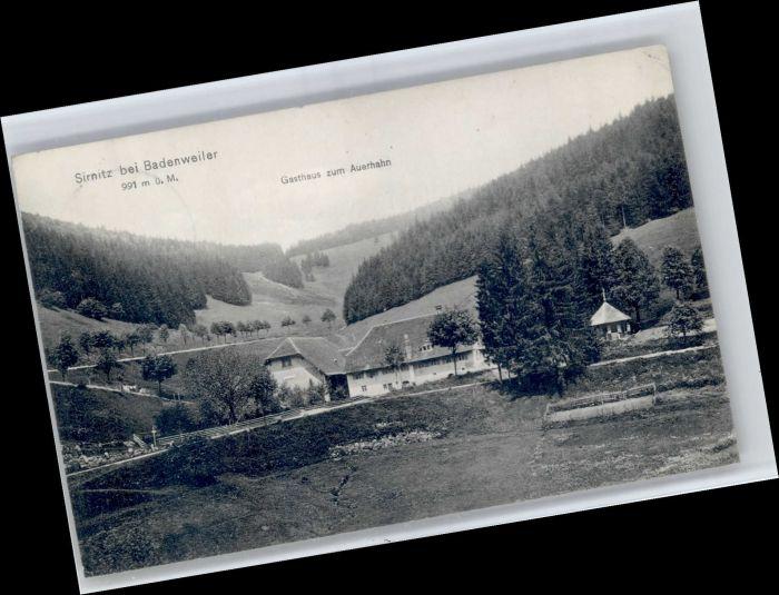 Sirnitz Sirnitz Gasthaus zum Auerhahn x / Badenweiler /Breisgau-Hochschwarzwald LKR