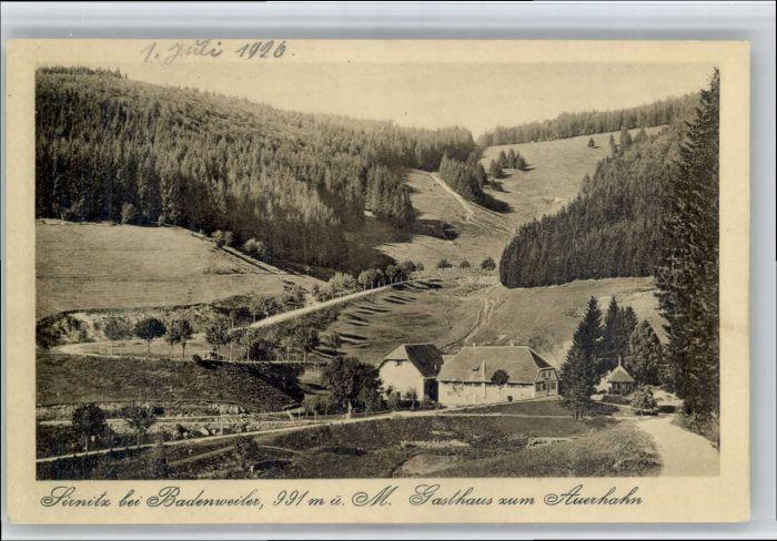 Sirnitz Sirnitz Gasthaus zum Auerhahn * / Badenweiler /Breisgau-Hochschwarzwald LKR