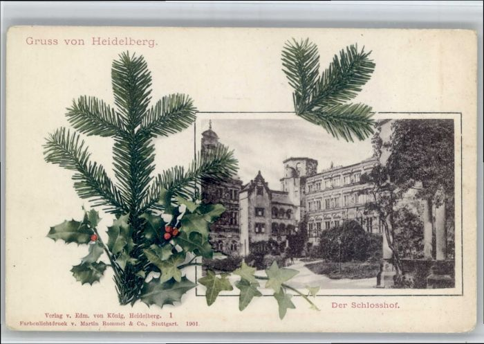 Heidelberg Neckar Heidelberg Schlosshof * / Heidelberg /Heidelberg Stadtkreis