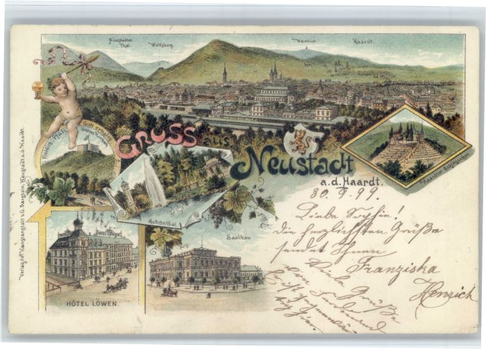 Neustadt Weinstrasse Neustadt Weinstrasse Hotel Loewen Schloss  x / Neustadt an der Weinstr. /NeuWeinstrasse Stadtkreis