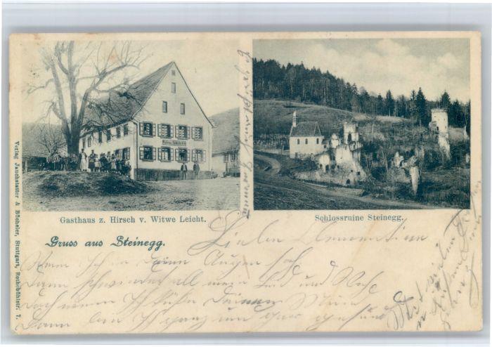 Steinegg Enzkreis Steinegg Gasthaus Hirsch Schloss Ruine  x / Neuhausen /Enzkreis LKR