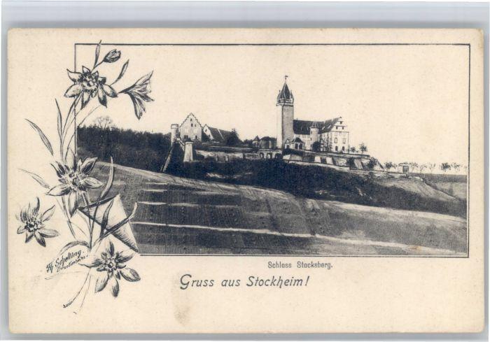 Stockheim Brackenheim Stockheim Brackenheim Schloss Stocksberg * / Brackenheim /Heilbronn LKR