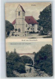 Brombach Loerrach Brombach Loerrach Kirche Eisenbahnbruecke Karte von ca 1910 * / Loerrach /Loerrach LKR