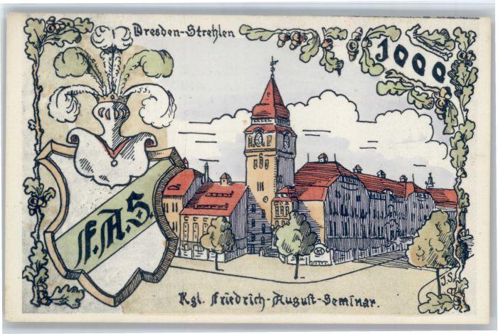 Dresden Dresden Strehlen Kuenstler J. S. Friedrich August Seminar * / Dresden /Dresden Stadtkreis
