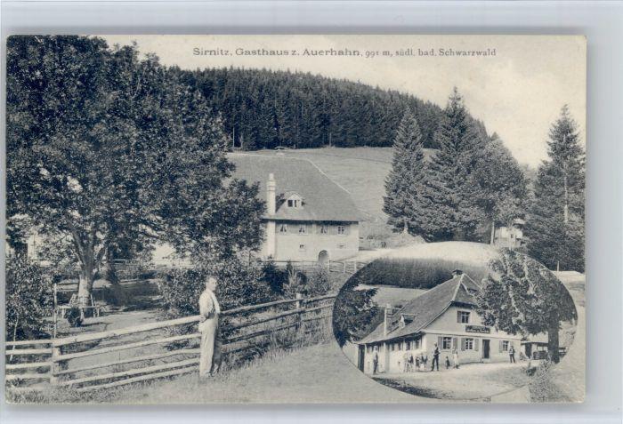 Badenweiler Badenweiler [Stempelabschlag] Sirnitz Gasthaus Auerhahn x / Badenweiler /Breisgau-Hochschwarzwald LKR