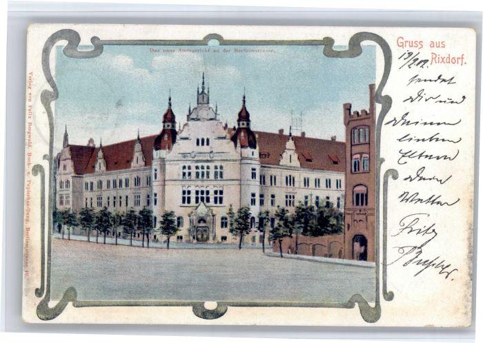 Rixdorf Berlin Rixdorf Berlinerstrasse Amtsgericht x / Berlin /Berlin Stadtkreis