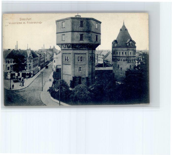 Stassfurt Stassfurt Wasserturm Friedrichstrasse * / Stassfurt /Salzlandkreis LKR