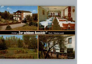 Rott Westerwald Hotel Zur Schoenen Aussicht / Rott /Altenkirchen Westerwald LKR