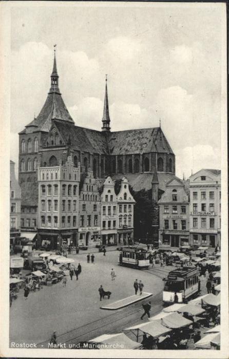 Rostock Mecklenburg-Vorpommern Markt Marienkirche / Rostock /Rostock Stadtkreis