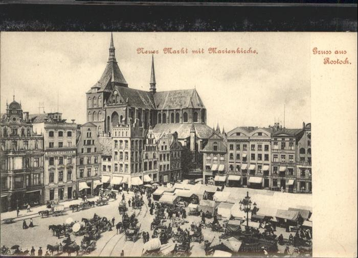 Rostock Mecklenburg-Vorpommern Neuer Markt Marienkirche / Rostock /Rostock Stadtkreis