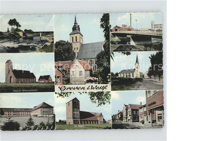 Greven Westfalen Ansichten Ems St. Josef Maria Himmelfahrt Kat. Greven