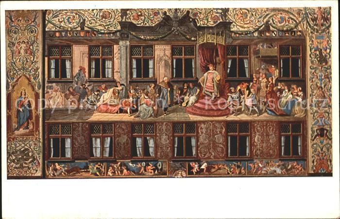 Augsburg Freske am Fuggerhaus Kaiser Maximilian Kat. Augsburg