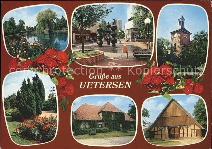 Uetersen Teich Brunnen Skulptur Kirche Park Scheune Rosenstadt Kat. Uetersen