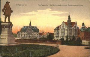 Minden Westfalen Wesertor Krfuerstendenkmal Regierungsgebaeude  Kat. Minden