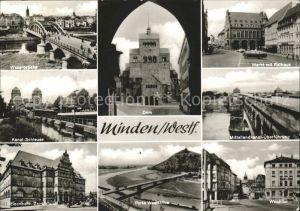 Minden Westfalen Mittellandkanal Wesertor Eisenbahnzentralamt Kanal Schleuse Kat. Minden