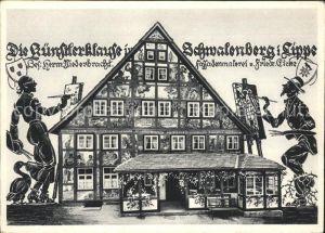 Lippedorf Niederrhein Kuenstlerklause Wappen Kat. Wesel