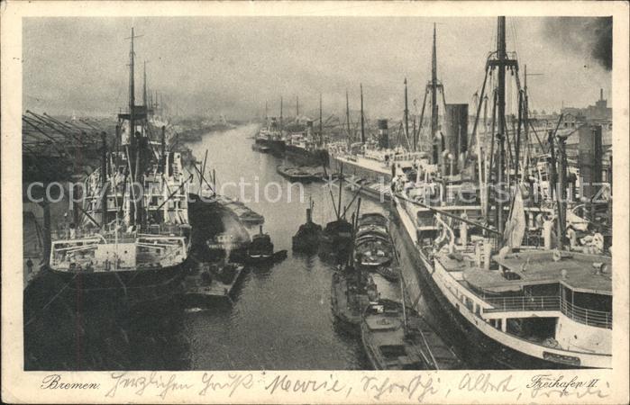 Bremen Freihafen Schiffe Kat. Bremen