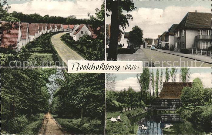 Bookholzberg Wohnsiedlung Waldweg Strassenpartie Schwanenteich Kat. Ganderkesee